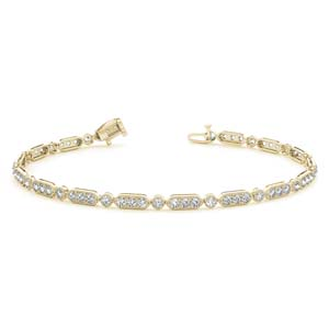 Pave Diamond Tennis Bracelet