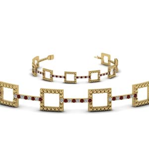 Gold Milgrain Diamond Bracelet