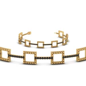 Milgrain Black Diamond Bracelet