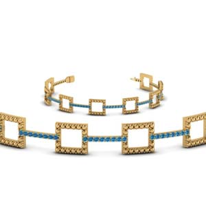 Topaz With Open Square Bracelet