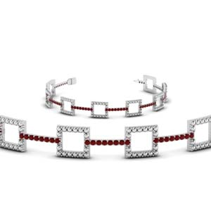 White Gold Ruby Bracelet