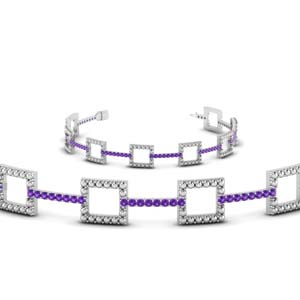 Bead Purple Topaz Bracelet