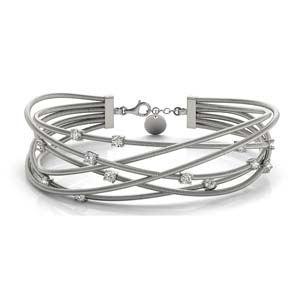 14k White Gold Bracelets Women