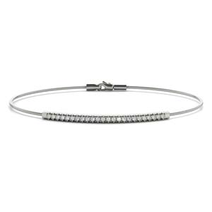 White Gold Bar Diamond Bracelet