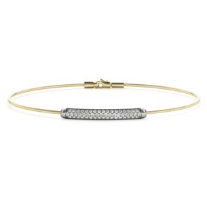 Bar Diamond Bangle Bracelet
