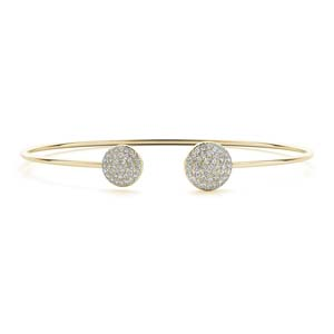 Open Cuff Diamond Bangle Bracelet