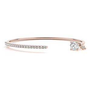Affordable Open Diamond Bangle Bracelet