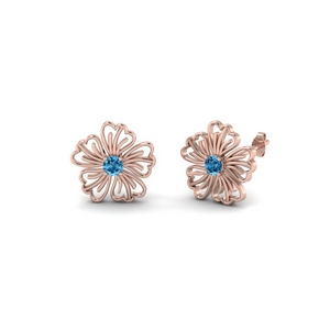 Rose Gold Topaz Earring
