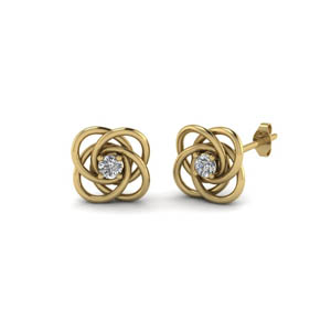 Celtic Knot Diamond Stud Earring