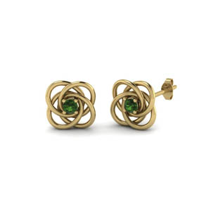 Delicate Emerald Celtic Knot Earring