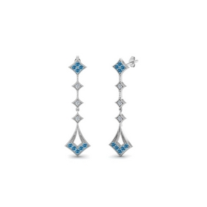 Milgrain Drop Earring With Topaz