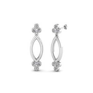 Open Marquise Diamond Stud Earring