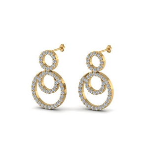 Triple Circle Diamond Earring