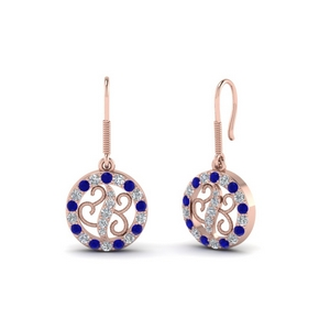 Unique Sapphire Dangle Earring