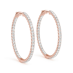 Hoop Diamond In & Out Earring