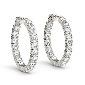 5 Ctw Diamond Hoop Earring