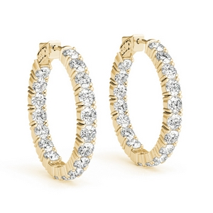 5 Ctw. Diamond Hoop Earring