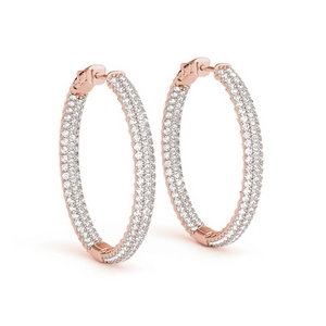 14K Rose Gold Large Hoop Earring