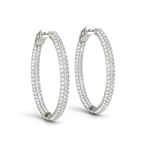 Oval Inside Out Hoop Earring