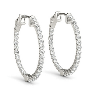 Inside Out Floating Hoop Earring