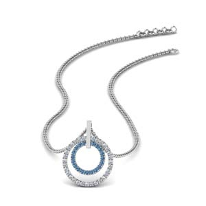 Find Topaz Fancy Pendants| Fascinating Diamonds