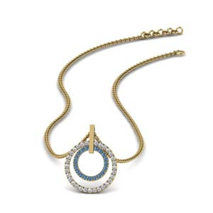 Beautiful Topaz Necklace Pendant