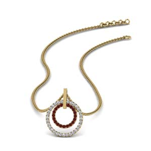 Yellow Gold Pendant With Ruby