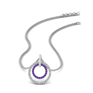 Double Circle Women Pendant
