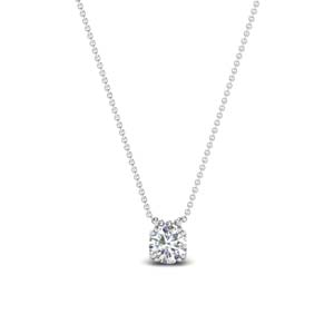0.30 carat diamond solitaire pendant in 14K white gold FDPD1935RO(0.30CT)ANGLE1 NL WG