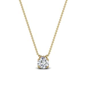 0.50 carat diamond solitaire pendant in 14K yellow gold FDPD1935RO(0.50CT)ANGLE1 NL YG