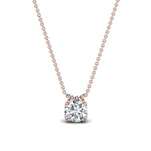 0.75 carat diamond solitaire pendant in 14K rose gold FDPD1935RO(0.75CT)ANGLE1 NL RG