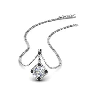 halo baguette pendant-with-black-diamond-in-FDPD242GBLACK-NL-WG