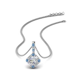halo baguette diamond pendant-with-blue-topaz-in-FDPD242GICBLTO-NL-WG