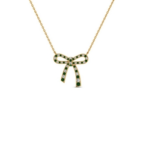 Emerald Necklace In 18K Gold