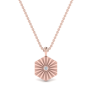 Diamond Rays Pendant