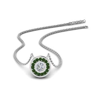 Emerald Halo Fancy Pendant