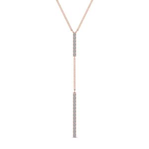 long straight bar hanging diamond pendant necklace in FDPD652299 NL RG
