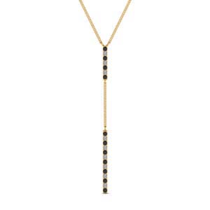 Black Diamond Long Straight Bar Pendant