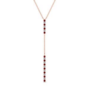 Delicate Hanging Pendant With Ruby