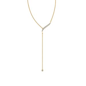 Long Chain Gold Pendant