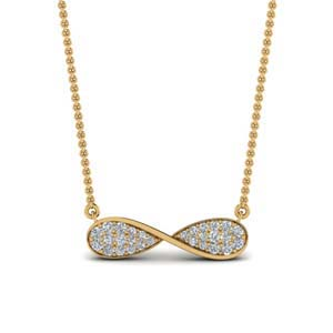 Infinity Diamond Necklace For Her