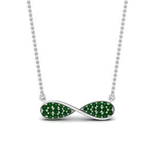Cluster Pave Emerald Pendant
