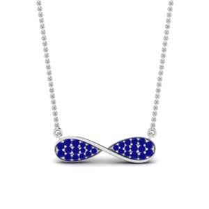 Sapphire Cluster Infinity Pendant