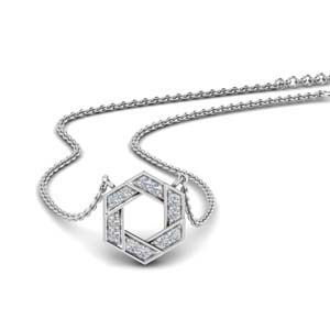 Pave Hexagon Pendant