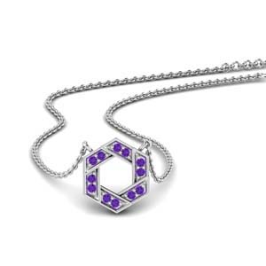 Purple Topaz Chain Pendant