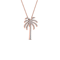 palm tree diamond pendant necklace in 14K rose gold FDPD67127ANGLE1 NL RG