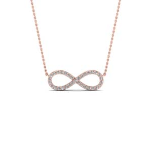 Love knot diamond pendant