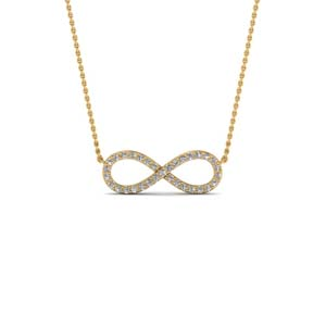 Infinity Diamond Necklace Gift