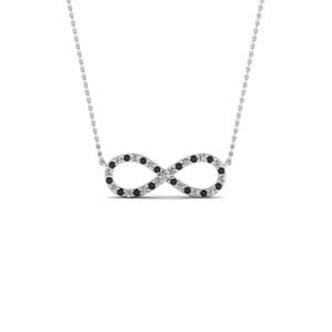 Infinity Black Diamond Pendant