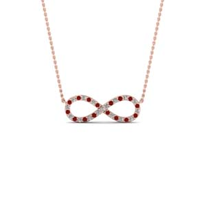 Infinity Knot Ruby Necklace